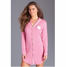 Lightweight Jersey Nightshirt With Contrasting Trim