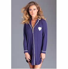 Plus Lightweight Jersey Nightshirt With Contrasting Trim