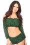 Lined Lace Long Sleeve Peasant Top Many Colors - image 2