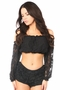 Lined Lace Long Sleeve Peasant Top Many Colors - image 5