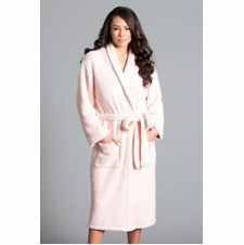 Long Cushy Robe With Belt Tie
