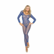 Elegant Moments 1361 Long Sleeve Crochet Bodystocking