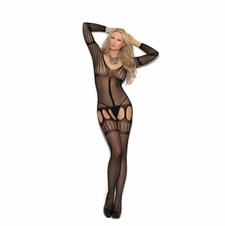 Elegant Moments 1366 Crochet Suspender Bodystocking