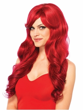 Long Wavy Wig With Adjustable Strap