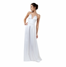 Luminous Satin Strappy Night Gown