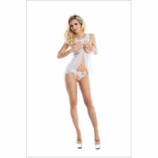 Marguerite Cupless Mesh Babydoll With Panty