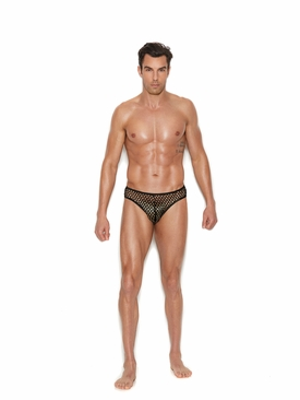 Men's Fishnet Thong Back Brief