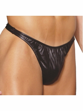Elegant Moments L9141X Men's Leather Thong