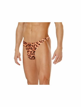 Men's Leopard Print Thong