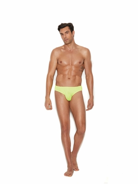 Men's Chartreuse Thong Back Brief
