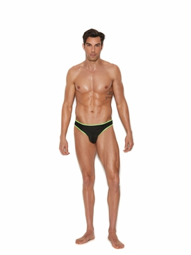 Men's Thong W/ Neon Green Trim