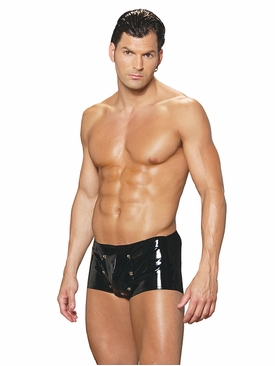 Men's Vinyl Shorts W/Break Away Front