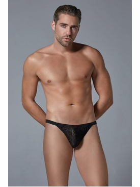 Men's Leopard Lace Thong