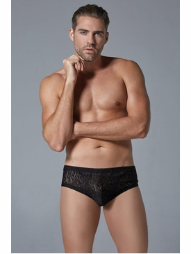 Men's Leopard Motif Brief