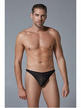 Men's Leopard Motif Thong