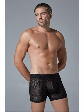 Men's Shorts with Leopard Motif