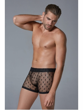 Men's Ultra Sheer Star Motif Boxers