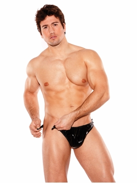 Men's Zeus Wet Look Tear Away Thong