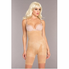 Mid-Thigh Crotchless Body Shaper