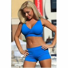 Minimizer Sport Halter Top and Shorts Bikini Bathing Suit to 3X