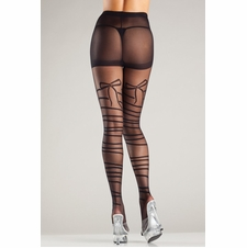 Mock Wrap-Around Sheer Tights