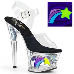 Pleaser Moon-708RSS Shooting Star Ankle Strap Sandal