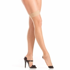 Nude Seamed Thigh Highs