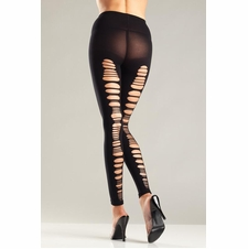 Opaque Shredded Back Footless Tights