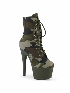 Pleaser Adore-1020Camo Platform Lace-Up Ankle Boot