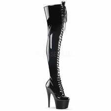Pleaser Adore-3023 Stretch Thigh High Boot