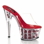 Pleaser Exotic Dancer Shoes Adore-701FL Flower Filled Stiletto Heels