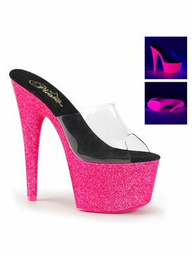 Pleaser Adore-701UVG Exotic Dancer Neon UV Reactive Shoes