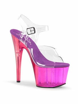 Pleaser Adore-708MCT Tinted Ankle Strap Sandal