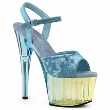Pleaser Adore-709MCT Dual Tone Tinted Ankle Strap Sandal