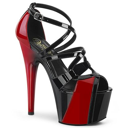 Pleaser Adore-764 Two Tone Ankle Strap Sandal