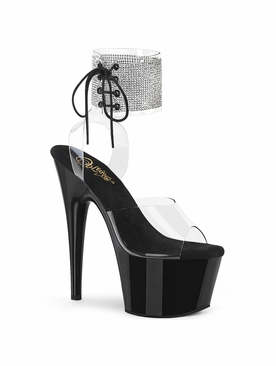 Pleaser Adore-791-2RS Embellished Ankle Cuff Sandal