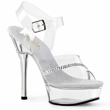 Pleaser Allure-608R Ankle Strap Sandal