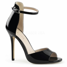 Pleaser Amuse-14 Closed Back Ankle Strap Sandal