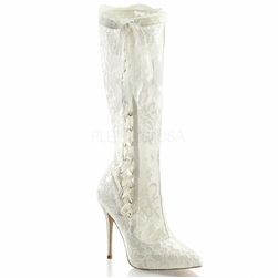 Pleaser Amuse-2012 Hidden Platform Knee High Boots