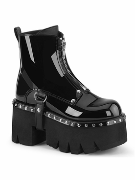 Demonia Ashes-100 Chunky Heel Ankle Boot