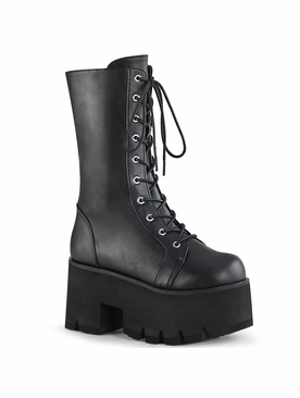 Pleaser Ashes-105 Lace-Up Mid-Calf Boot