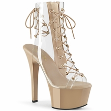 Pleaser Aspire-600-30 Platform Lace Up Ankle Boot