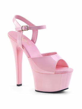 Pleaser Aspire-609 Vegan Friendly Ankle Strap Sandal
