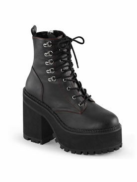 Demonia Assault-100 Double D-Ring Lace-Up Ankle Boot