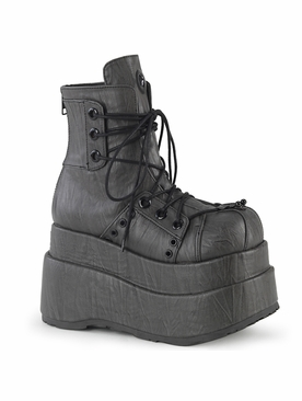 Pleaser Bear-120 Lace Up Front Ankle Boot