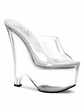 Pleaser Beau-601 Platform Wedge Slide