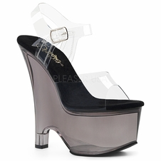 Pleaser Beau-608T Ankle Strap Wedge Sandal