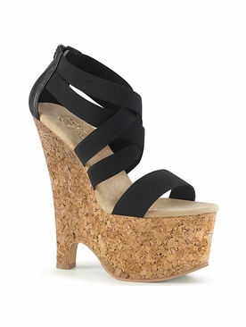 Pleaser Beau-669 Criss Cross Wedge Sandal