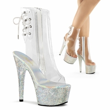 Pleaser Bejeweled-1018-DM-7 Lace-Up Ankle Boot