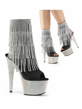 Pleaser Bejeweled-1024RSF-7 Exotic Dancer Ankle Boot